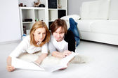 Young couple planning — Stock Photo