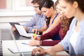 Students studying at school — Stock Photo