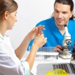 Постер, плакат: Scientists develop a new drug