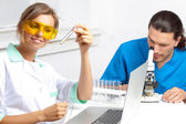 Doctor and researcher in the laboratory — Stock Photo