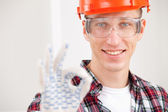 Repairman making a perfect gesture — Stock Photo