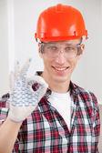 Repairman making a perfect gesture — Zdjęcie stockowe