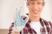 Worlman making a perfect gesture — Stock Photo