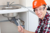 Locksmith plumber — Stock Photo