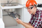 Locksmith plumber — Stock Photo