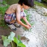 Boy near the stream — Stock Photo #50904049
