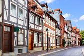 Old street in Hildesheim — Stock Photo