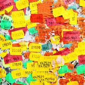 Price stickers — Stock Photo