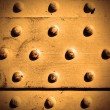 Metal surface with rivets - Stock Photo