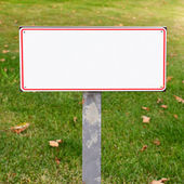 White metal sign — Stock Photo