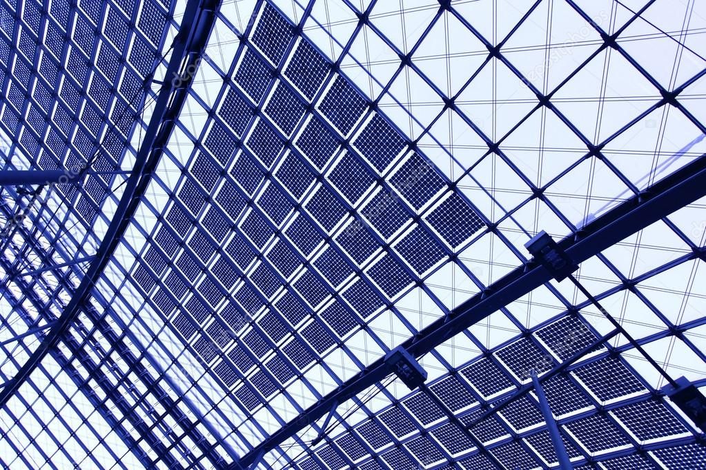 Glass roof - abstract industrial background — Stock Photo #13207018