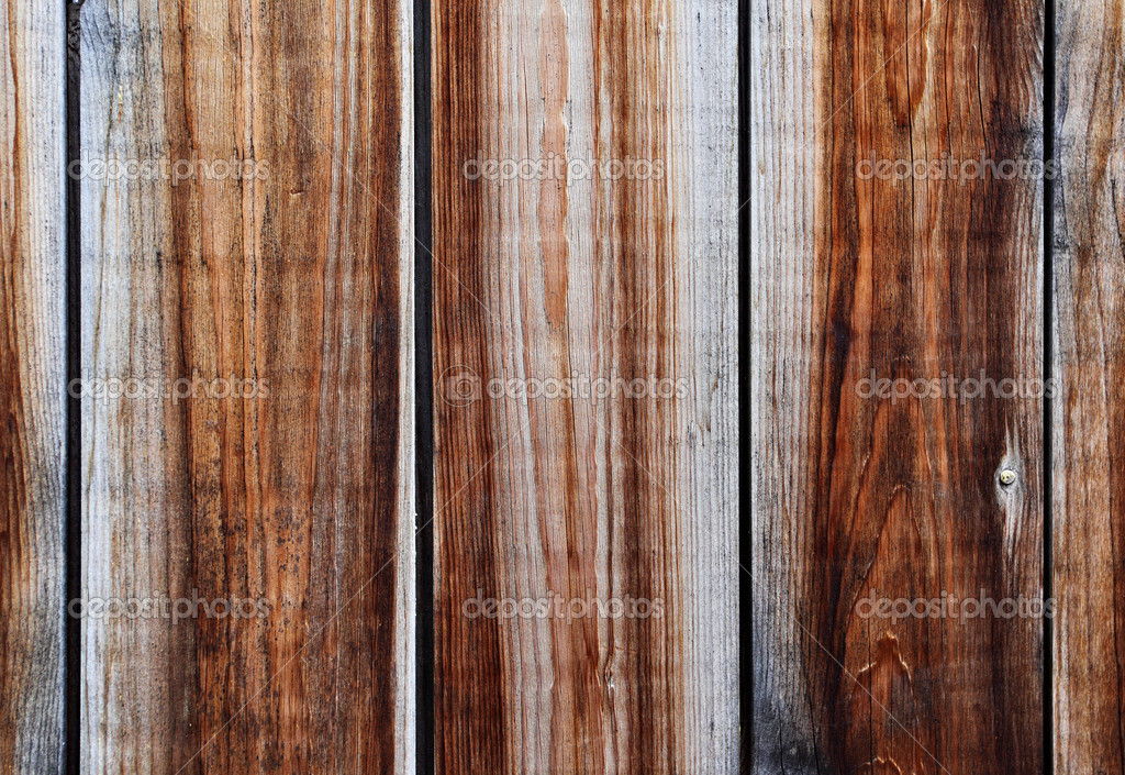 Old wooden fence close-up, may be used as background — Foto de Stock   #13207026