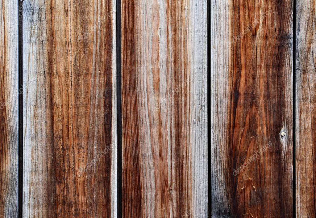 Old wooden fence close-up, may be used as background   #13207026