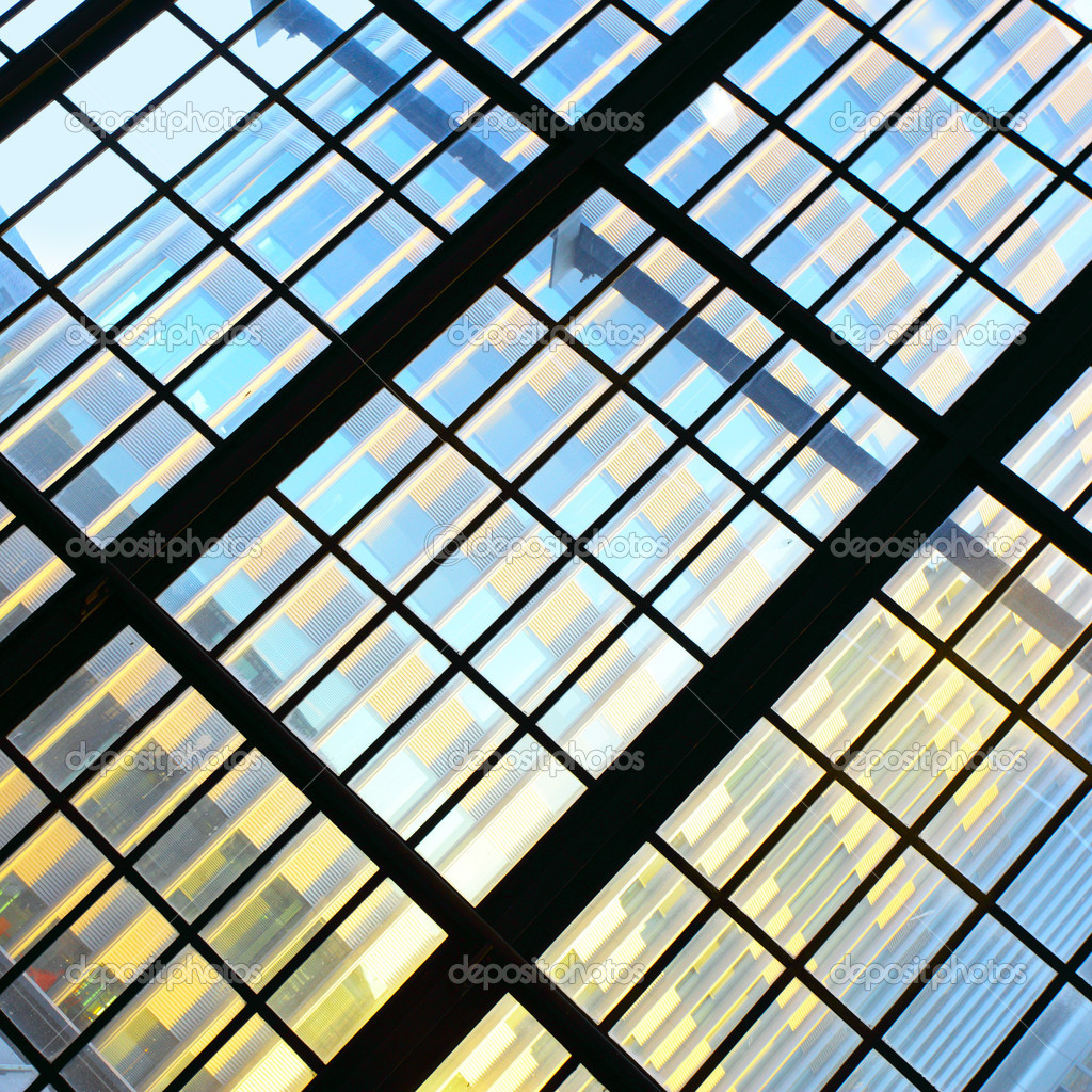 Glass wall - Abstract architectural background — Stock Photo #13207154