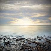 Sundown over sea — Stock Photo
