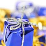 Blue gift box close-up — Stock Photo #1440942
