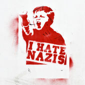 Anti-fascist graffiti — Stock Photo