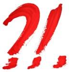 kırmızı el yazısı harfleri — Stok fotoğraf #19630219