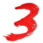Red handwritten numerals — Stock Photo