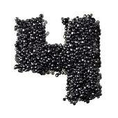 Black caviar numbers — Stock Photo