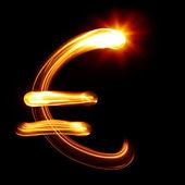 Symbol měny euro — Stock fotografie
