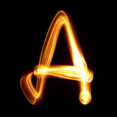 ABC pictured by light — Stock Photo