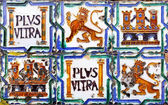 Ancient ceramic tiles — Foto Stock