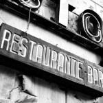 Deserted restaurant — Stock Photo