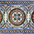 Moorish ceramic tiles - Stock Photo