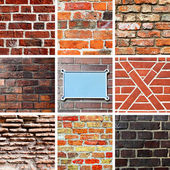 Brickwork textures — Stock Photo