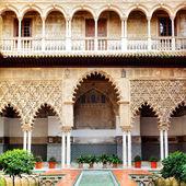 Courtyard in Alcazar — Stock Photo
