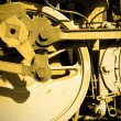 Steam locomotive wheel — Foto Stock