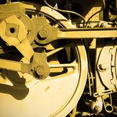 Steam locomotive wheel — Foto Stock