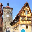 Old street in Rothenburg - Stock Photo