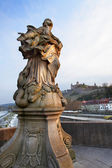 Sculpture on Old bridge in Wurzburg (1730 A.D.), Germany — Stock Photo