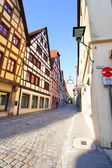 Old street in Rothenburg — Stock Photo