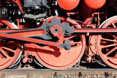 Steam locomotive wheels — Stock fotografie