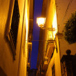 Street in Seville at night — Stock Photo