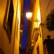 Street in Seville at night — Photo