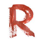 赤い文字 — ストック写真