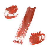 Red numbers — Stock Photo