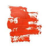 красные мазки кисти — Стоковое фото
