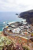 Deniz kenarı köyü — Stok fotoğraf