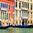 Gondolas at Grand Canal — Stock Photo