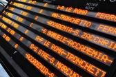 Timetable of waterbuses — Stock Photo