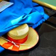 Gondolier's straw hat — Stock Photo
