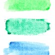 Watercolor brush strokes — Stock Photo