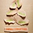 Torn paper Christmas tree — Stockfoto