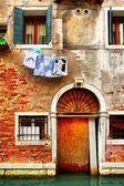 старый дом в венеции — Стоковое фото