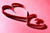 Two paper heart — Stock Photo